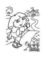 Imprimer le coloriage : Dora, numéro 70f962b1