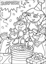 Imprimer le coloriage : Dora, numéro 718