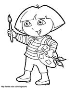 Imprimer le coloriage : Dora, numéro 7208