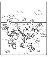 Imprimer le coloriage : Dora, numéro 722