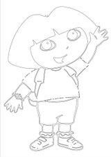 Imprimer le coloriage : Dora, numéro 7221