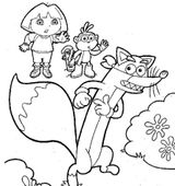 Imprimer le coloriage : Dora, numéro 726