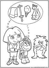 Imprimer le coloriage : Dora, numéro 755166