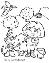 Imprimer le coloriage : Dora, numéro 9330