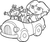 Imprimer le coloriage : Dora, numéro b8b4c712