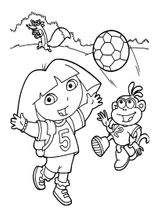 Imprimer le coloriage : Dora, numéro e8247c2b