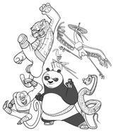Imprimer le coloriage : Kung Fu Panda, numéro 543536