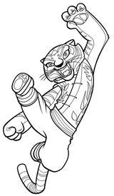 Imprimer le coloriage : Kung Fu Panda, numéro 543561