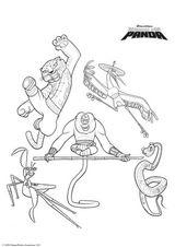 Imprimer le coloriage : Kung Fu Panda, numéro 543567