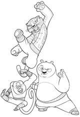 Imprimer le coloriage : Kung Fu Panda, numéro 543568