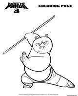 Imprimer le coloriage : Kung Fu Panda, numéro 5aa9aee
