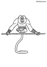 Imprimer le coloriage : Kung Fu Panda, numéro 758786