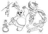 Imprimer le coloriage : Kung Fu Panda, numéro d9f77496