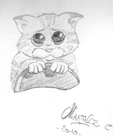 Imprimer le coloriage : Le Chat potté, numéro 543595