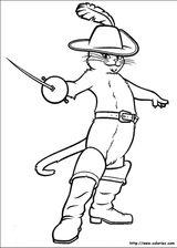 Imprimer le coloriage : Le Chat potté, numéro 566201