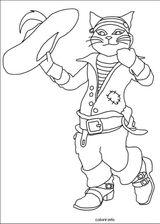Imprimer le coloriage : Le Chat potté, numéro 609239