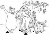 Imprimer le coloriage : Madagascar, numéro 543654