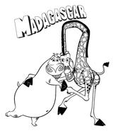 Imprimer le coloriage : Madagascar, numéro 543669