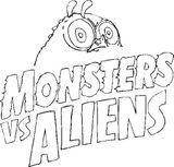 Imprimer le coloriage : Monstres contre Aliens, numéro 543630
