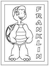 Imprimer le coloriage : Franklin, numéro 2058