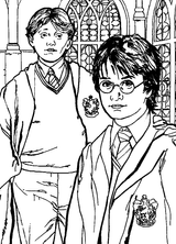 Imprimer le coloriage : Harry Potter, numéro 1657