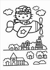 Imprimer le coloriage : Hello Kitty, numéro 177d93ee
