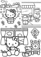 Imprimer le coloriage : Hello Kitty, numéro 1e1ead4d