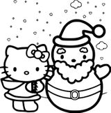 Imprimer le coloriage : Hello Kitty, numéro 1ffd4559