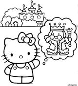 Imprimer le coloriage : Hello Kitty, numéro 24efc6ae