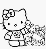 Imprimer le coloriage : Hello Kitty, numéro 2586f119