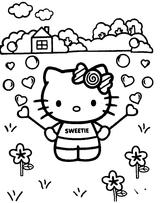 Imprimer le coloriage : Hello Kitty, numéro 27168