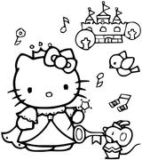 Imprimer le coloriage : Hello Kitty, numéro 29068