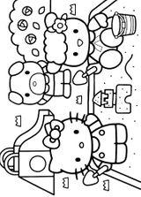 Imprimer le coloriage : Hello Kitty, numéro 29070