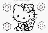 Imprimer le coloriage : Hello Kitty, numéro 3afcd494