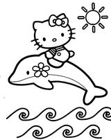 Imprimer le coloriage : Hello Kitty, numéro 443586