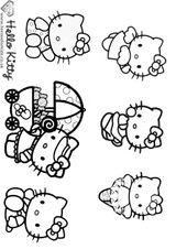 Imprimer le coloriage : Hello Kitty, numéro 4612