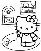 Imprimer le coloriage : Hello Kitty, numéro 4622