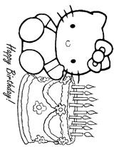 Imprimer le coloriage : Hello Kitty, numéro 4623