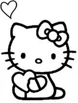 Imprimer le coloriage : Hello Kitty, numéro 4627
