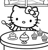 Imprimer le coloriage : Hello Kitty, numéro 52792