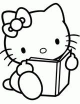 Imprimer le coloriage : Hello Kitty, numéro 52debfd7
