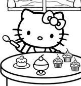 Imprimer le coloriage : Hello Kitty, numéro 52f6b32