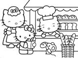 Imprimer le coloriage : Hello Kitty, numéro 53153