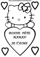 Imprimer le coloriage : Hello Kitty, numéro 53155
