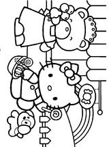 Imprimer le coloriage : Hello Kitty, numéro 5633