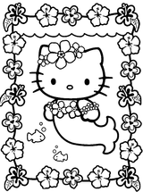 Imprimer le coloriage : Hello Kitty, numéro 58496