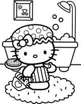 Imprimer le coloriage : Hello Kitty, numéro 5c1011bb