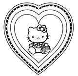 Imprimer le coloriage : Hello Kitty, numéro 61221