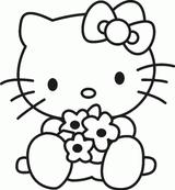 Imprimer le coloriage : Hello Kitty, numéro 672587