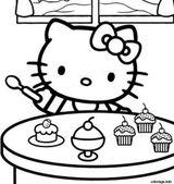 Imprimer le coloriage : Hello Kitty, numéro 6d139c44